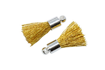 Gold 17-20mm Tassel with Silver Cap