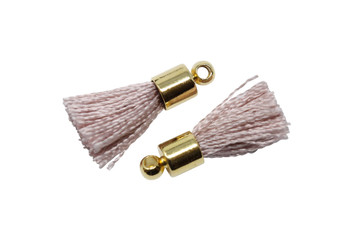 Blush 17-20mm Tassel with Gold Cap