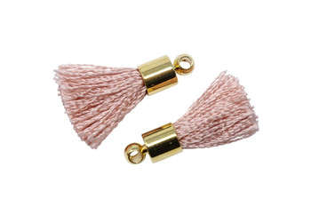 Rose 17-20mm Tassel with Gold Cap