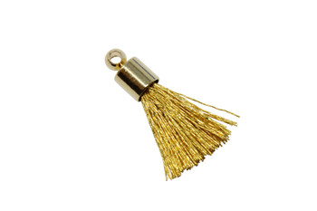 Gold 17-20mm Tassel with Gold Cap