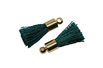 Emerald 17-20mm Tassel with Gold Cap