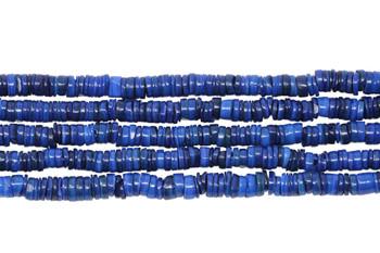 Dyed Shell Polished 6mm Irregular - Blue