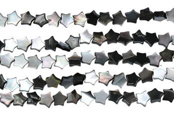 Natural Black Shell 7mm Flat Star