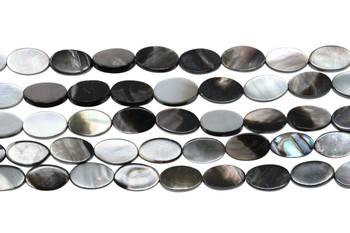 Natural Black Shell 7x10mm Flat Oval