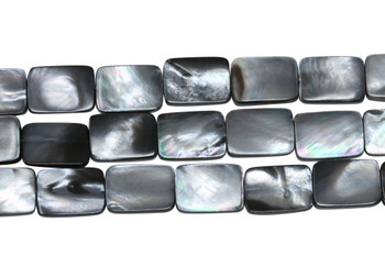 Natural Black Shell 10x14mm Flat Rectangle
