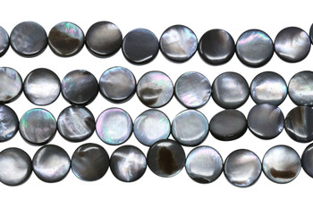 Natural Black Shell 10mm Flat Coin