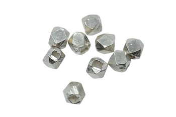 Hill tribe Sterling Silver 4mm Faceted Cube