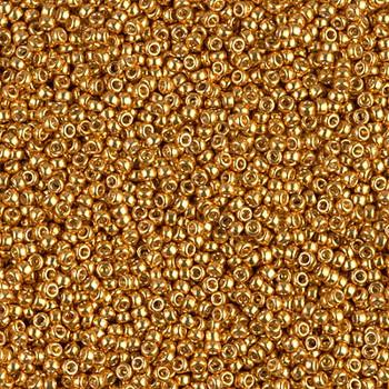 Size 15 Miyuki Seed Beads -- D4203 Duracoat Galvanized Deep Gold