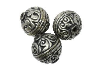 Tibetan Silver 27mm Round