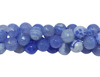 Sky Blue Fire Agate Polished 8mm Faceted Round