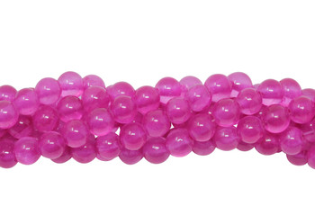 Mashan Jade Transparent Hot Pink Dyed Polished 4mm Round
