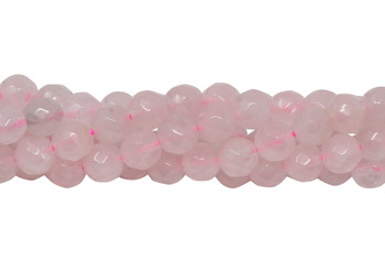 Rose Quartz Polished 6mm Faceted Round - 64 Cut