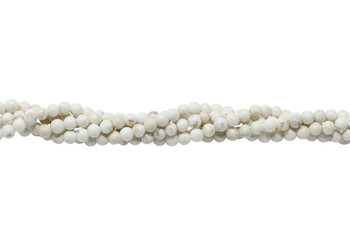 Howlite Natural Polished 4mm Round