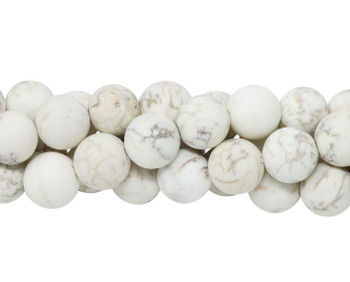 Howlite Natural Matte 10mm Round