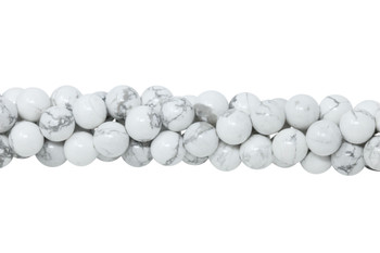 Howlite Polished White 8mm Round