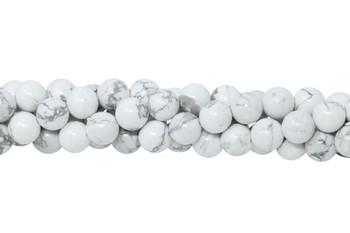 Howlite Polished White 8mm Round
