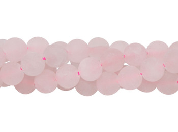 Rose Quartz Matte 8mm Round