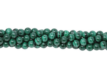 Malachite Grade A Polished 6mm Round