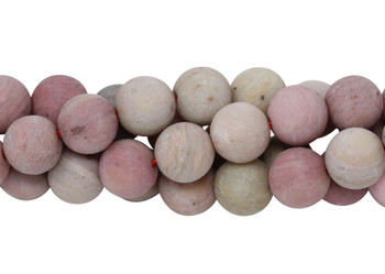 Rhodonite Matte 8mm Round