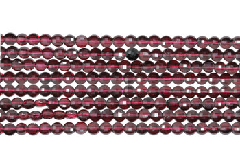 Garnet Grade AA Polished 4mm Faceted Coin