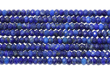 Lapis Polished 2x3mm Faceted Rondel