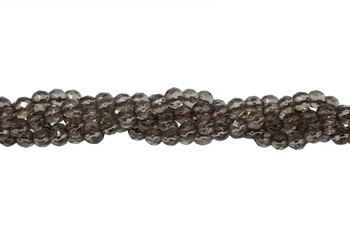 Smoky Quartz Grade A Polished 6mm Faceted Round - 64 Cut