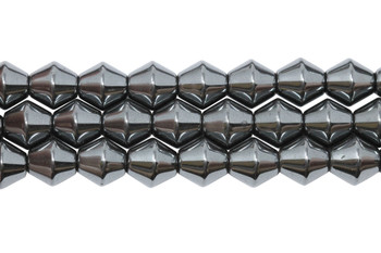 Hematite Polished 8mm Bicone