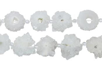 Druze Agate White 18-20mm Flower