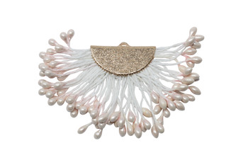 Blush 40x60mm Tassel with Flat Gold Cap