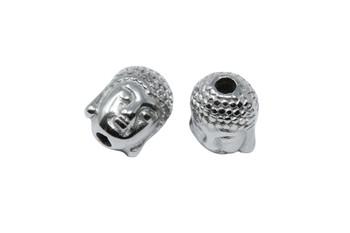 Stainless Steel 8x10mm Buddha Bead