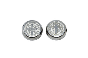 Stainless Steel 5x10mm Cross Coin
