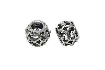 Stainless Steel 8x10mm Butterfly Rhinestone Bead