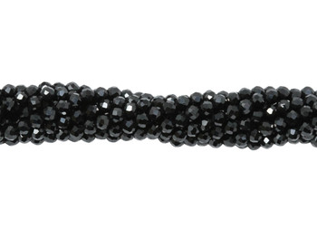 Black Spinel Polished 2mm Faceted Round