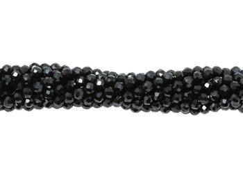 Black Spinel Polished 2mm Faceted Round