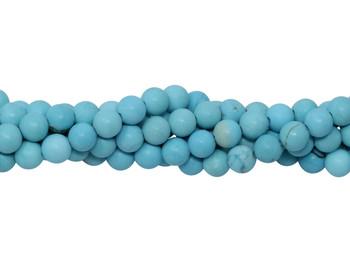 Howlite Turquoise Matte 4mm Round