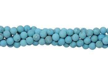 Howlite Turquoise Matte 6mm Round