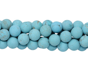 Howlite Turquoise Matte 8mm Round