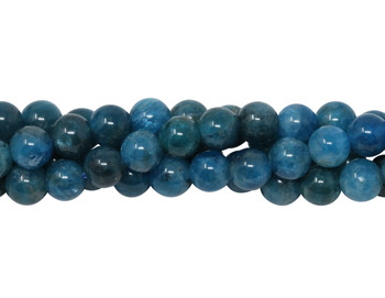 Apatite Polished 6mm Round - Dark Blue