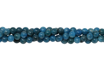 Apatite Polished 6mm Round - Dark Blue