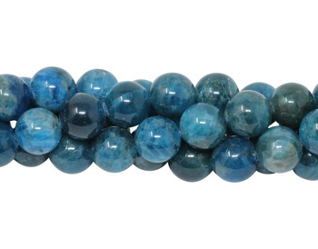 Apatite Polished 10mm Round - Dark Blue