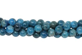 Apatite Polished 10mm Round - Dark Blue