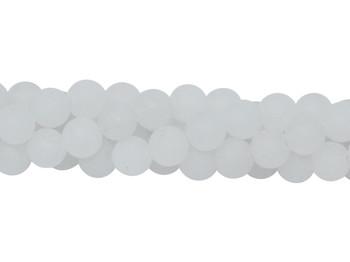 White Jade Matte 6mm Round