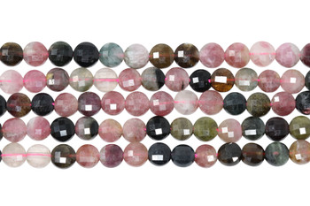 Tourmaline Multi Color Polished 5.8mm Faceted Coin