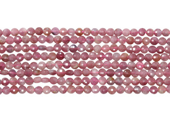 Pink Tourmaline Polished 3mm Faceted Coin