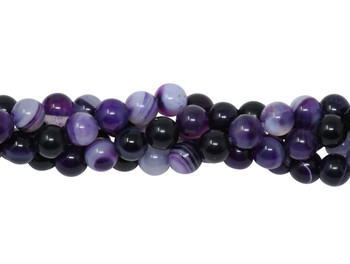 Striped Purple Agate Polished 6mm Round