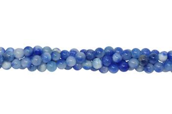 Dyed Jade Capri Blue Polished 6mm Round