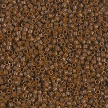 Delicas Size 11 Miyuki Seed Beads -- 2142 Duracoat Opaque Cognac