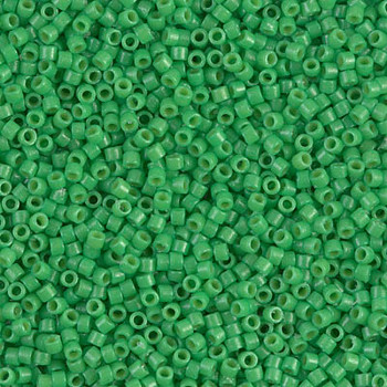 Delicas Size 11 Miyuki Seed Beads -- 2126 Duracoat Opaque Fiji Green