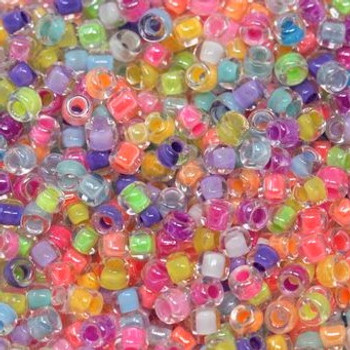 Size 11 Miyuki Seed Beads -- Neon Mix
