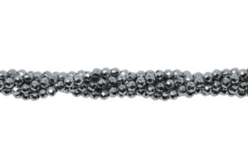 Platinum Plated Hematite Polished 3mm Faceted Round